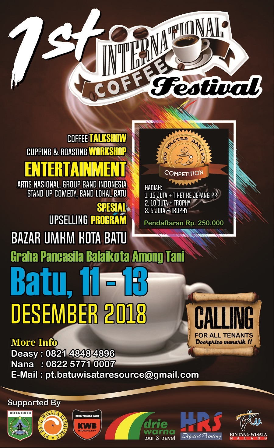 1st International Coffee Festival Batu 2018
